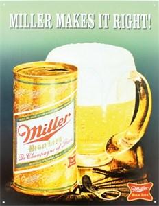 Plåtskylt/Miller Makes it rig, Universal