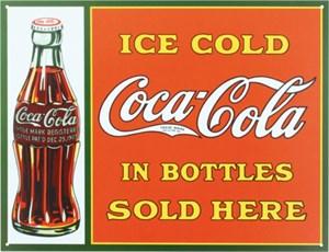 Blikkskilt/CocaCola sold here i, Universal