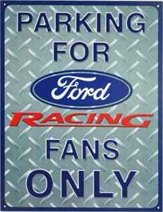 Blikkskilt/Ford Racing Parking, Universal