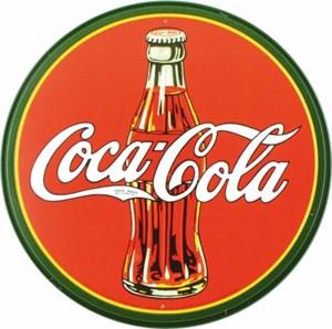 Blikkskilt/CocaCola-röd-rund, Universal