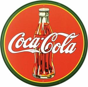 Bildel: Plåtskylt/CocaCola-röd-rund, Universal