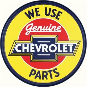 Plåtskylt/GM Chevy Genuine par, Universal
