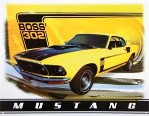 Blikkskilt/Ford Mustang Boss302, Universal