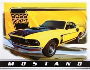 Bildel: Plåtskylt/Ford Mustang Boss302, Universal