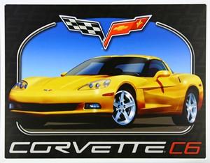 Blikkskilt/Corvette C6, Universal