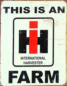 Plåtskylt/IH Farm, Universal