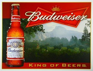 Blikkskilt/Budweiser/King of be, Universal