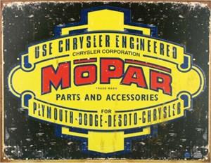 Plåtskylt/Mopar '37 -'47, Universal