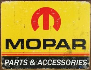 Plåtskylt/Mopar Logo '64-'71, Universal