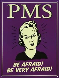 Bildel: Plåtskylt/PMS -Be afraid, Universal
