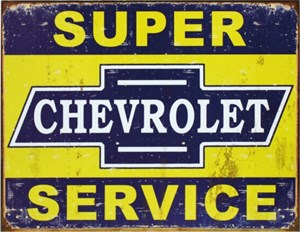 Plåtskylt/GM Super Chevy Servi, Universal