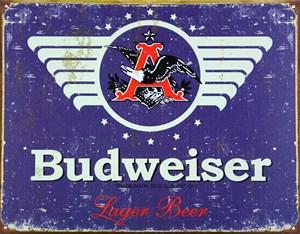 Plåtskylt/Budweiser Weathered, Universal