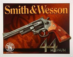 Blikkskilt/S&W -44 Magnum, Universal