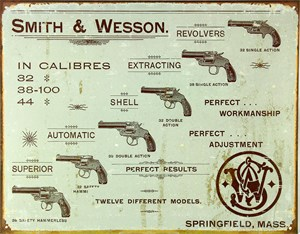 Plåtskylt/S&W -Revolvers, Universal