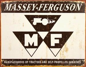Blikkskilt/Massey Ferguson Logo, Universal