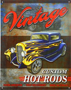 Blikkskilt/Vintage Hot Rods, Universal