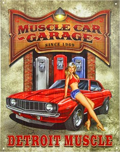 Plåtskylt/Muscle Car Garage, Universal