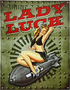 Bildel: Plåtskylt/Lady Luck, Universal