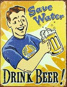 Plåtskylt/Drink Beer, Universal