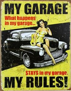 Plåtskylt/My Garage, Universal