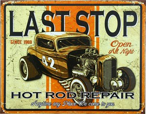 Blikkskilt/Hot Rod Repair, Universal