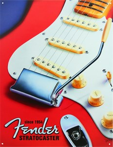 Plåtskylt/Fender Stratocaster, Universal