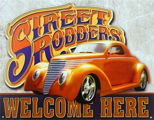 Plåtskylt/Street Rodders Welco, Universal
