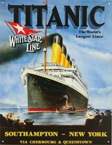 Blikkskilt/Titanic-White Star, Universal
