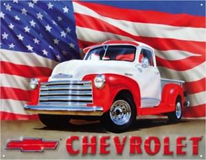 Plåtskylt/GM Chevy -'51 Pickup, Universal