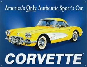 Blikkskilt/Corvette Chevy -58 V, Universal