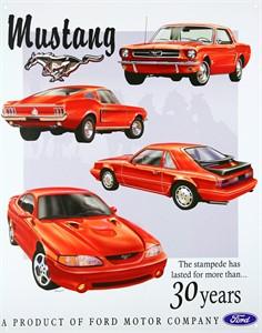 Bildel: Plåtskylt/Ford Mustang, Universal