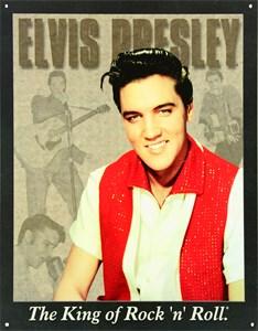 Blikkskilt/Elvis Portrait, Universal. Skilt - Blikkskilt/Elvis Portrait, Universal fra