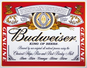 Kyltti/Budweiser Can Label, Universal