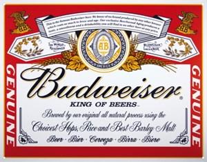 Plåtskylt/Budweiser Can Label, Universal