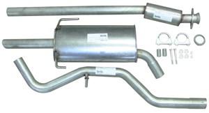 Bildel: Rostfritt avgassystem, halvsats