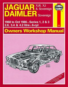 Haynes Reparationshandbok, Jaguar XJ6, XJ & Sovereign, Jaguar XJ6, XJ & Sovereign; Daimler Sovereign