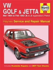 Haynes Reparationshandbok, VW Golf & Jetta Mk 2 Petrol, Universal