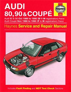 Haynes Reparationshandbok, Audi 80, 90 & Coupe Petrol, Universal