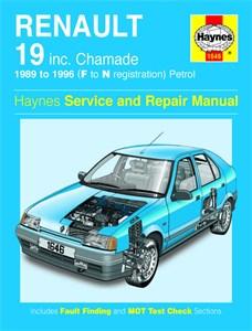 Haynes Reparationshandbok, Renault 19 Petrol