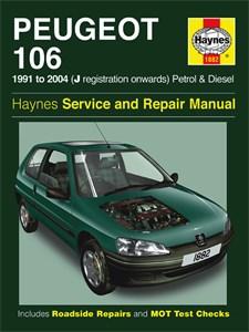 Haynes Reparationshandbok, Peugeot 106 Bensin & Diesel, Peugeot 106 bensin og diesel