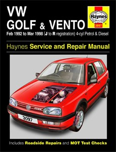 Haynes Reparationshandbok, VW Golf & Vento Petrol & Diesel, Universal