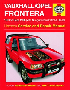 Haynes Reparationshandbok, Vauxhall/Opel Frontera, Vauxhall/Opel Frontera Petrol & Diesel