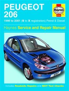 Haynes Reparationshandbok, Peugeot 206 Petrol & Diesel