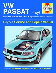 Haynes Reparationshandbok, VW Passat 4-cyl Petrol & Diesel