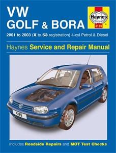 Haynes Reparationshandbok, VW Golf & Bora 4-cyl, VW Golf & Bora 4-cyl Petrol & Diesel