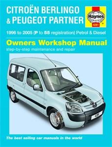 Haynes Reparationshandbok, Citroën Berlingo, Citroën Berlingo & Peugeot Partner Petrol & Diesel