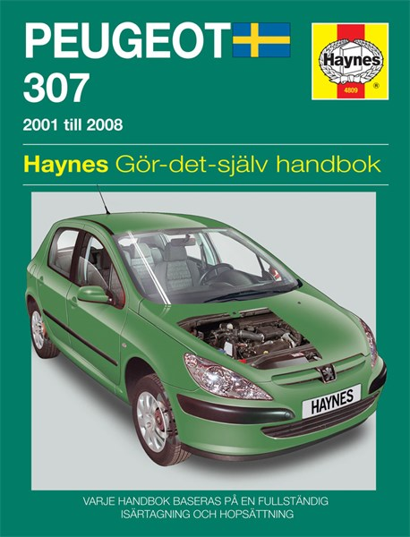 haynes reparationshandbok peugeot 307 universal. Black Bedroom Furniture Sets. Home Design Ideas