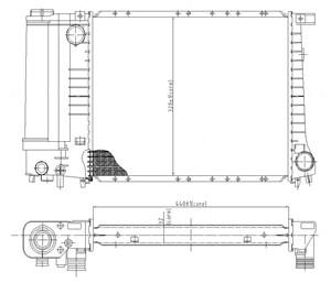 Reservdel:Bmw 316 Kylare, motorkylning