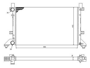 Reservdel:Volkswagen Lt 28-46 Kylare, motorkylning