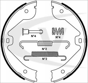 Brake Shoe Set, park brake, Rear